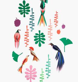 DIY- 5 paradijsvogels en 12 bladeren