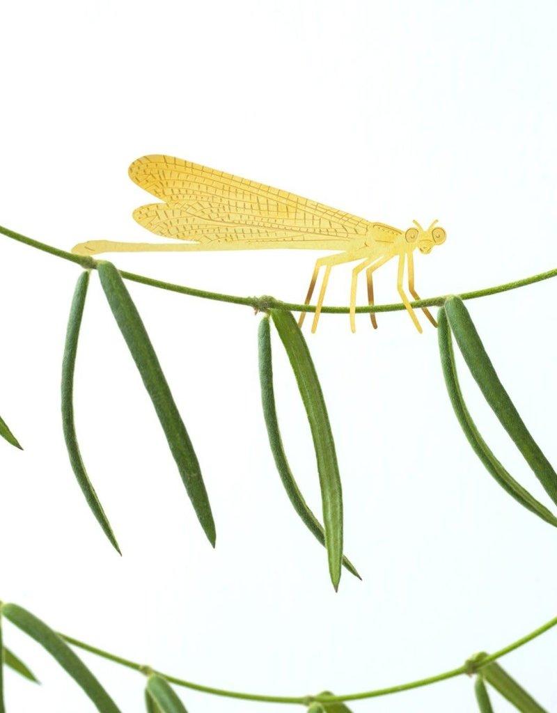 Gouden plantenhanger Waterjuffer