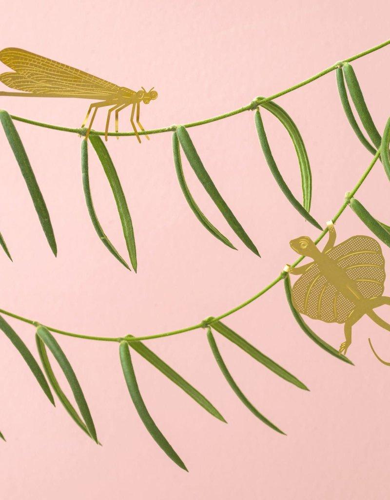 GOUDEN PLANTENHANGER - Vliegend Draakje