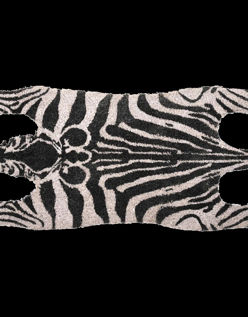 Doormat coir zebra