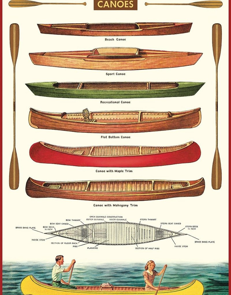 VINTAGE POSTER - Canoe (50x70cm)