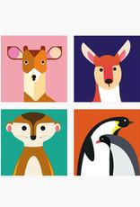 MAGNETS WILD ANIMALS - Deer assortment