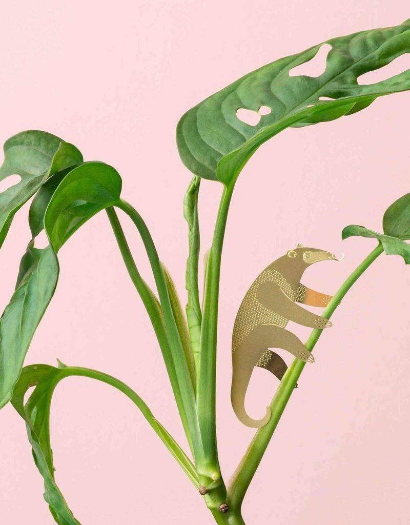 GOLDEN PLANT HANGER- Anteater