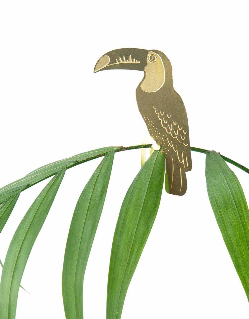 GOLDEN PLANT HANGER - Toucan