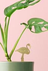 GOUDEN PLANTENHANGER - Flamingo