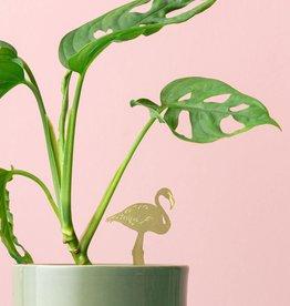 GOLDEN PLANT HANGER - Flamingo
