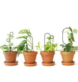 JEU DE 4 MINI-SUPPORTS DE PLANTES