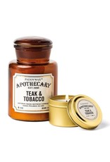 APOTHECARY - Glazen kaars - Tabak & Teak MEDIUM - 226 g
