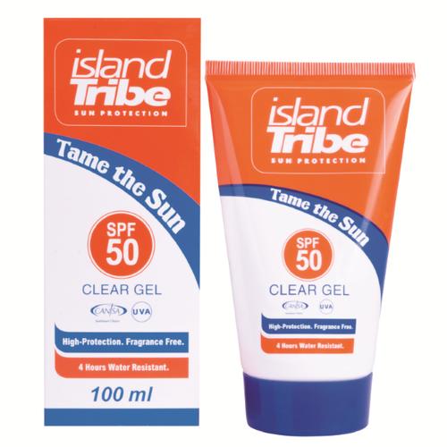 Island Tribe Clear Gel SPF50, 100ml