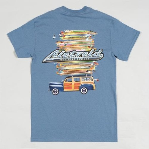 "Rietveld ""Got Boards"" Short Sleeve Tee Indigo Blue"
