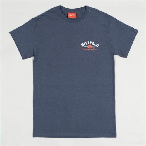 "Rietveld ""Surf Tripping"" Short Sleeve Tee Heather Navy"