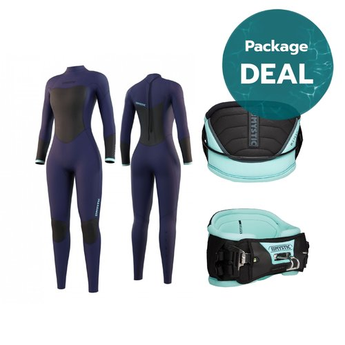 Mystic Star Wetsuit + Harness Package Deal