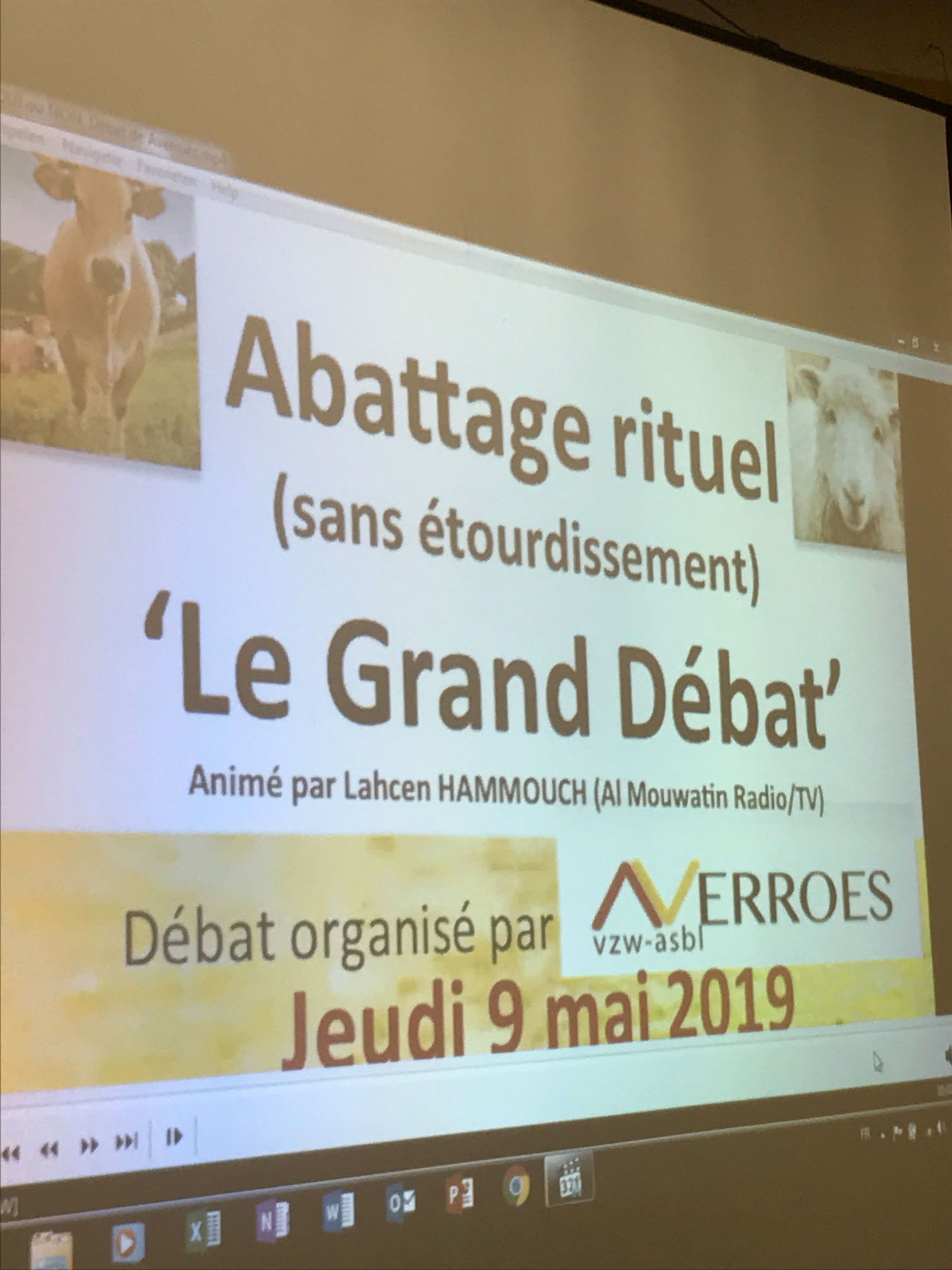The grand debate where the controversy around Belgiums ban on ritual slaughter is being discussed by various experts with different religious backgrounds and fields of expertise