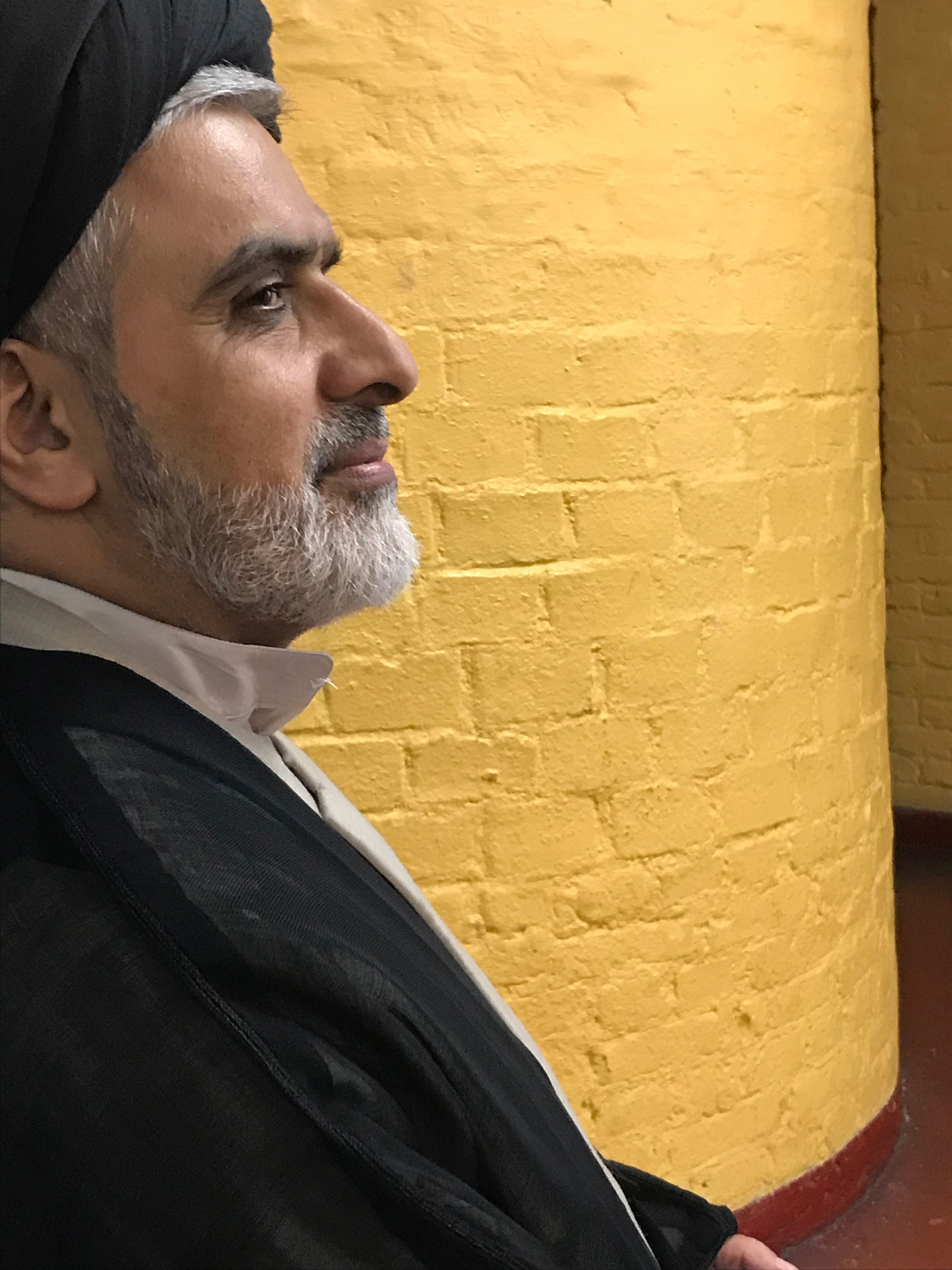 Picture of Seyedzyaoddin Salehi from profile on the Grand debate on ritual slaughter ban that has been introduced in Belgium;