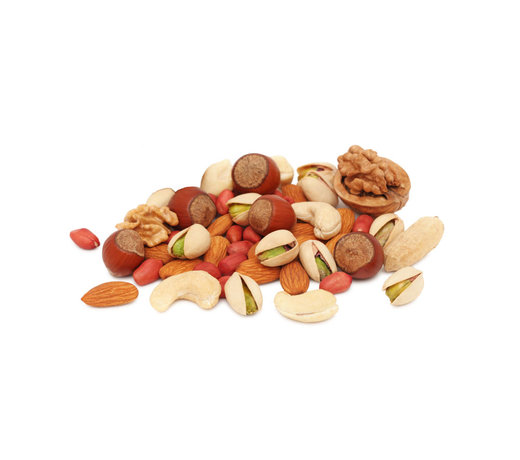 Selection of nuts, seeds and grains from all over de world.