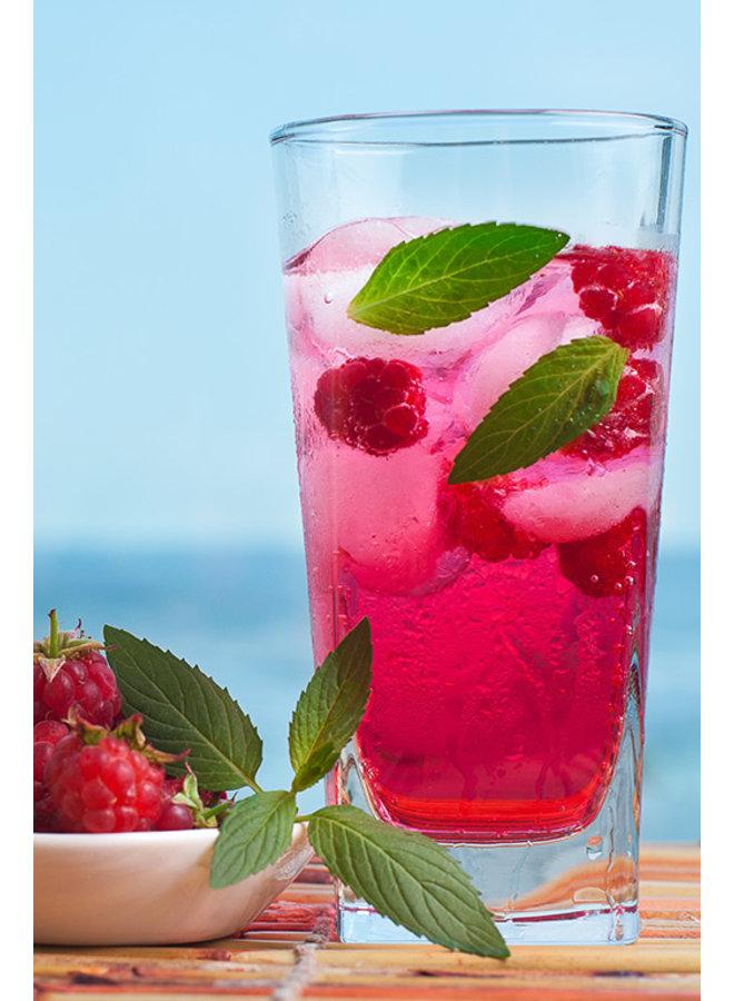Organic raspberry sirup.