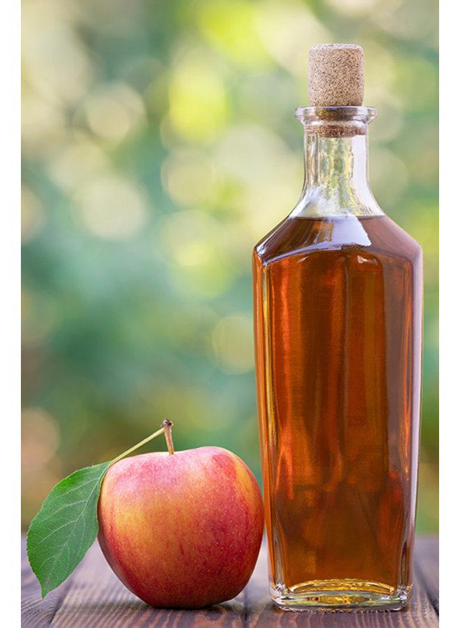 Preparação artesanal de vinagre de maçãs cultivadas naturalmente, 500 ml