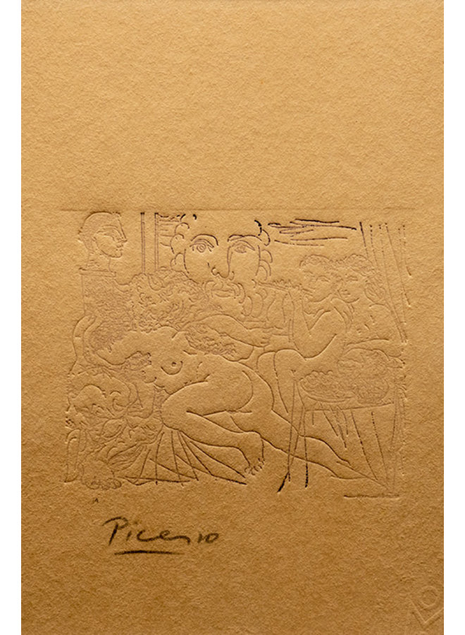 """Mujer y Minotauro"" kunststuk van Pablo Ruiz Picasso (1933)"