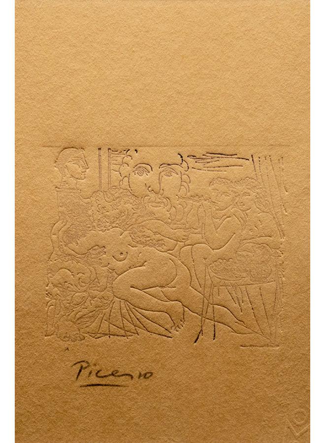 """Mujer y Minotauro"" obra de arte feita por Pablo Ruiz Picasso (1933)"