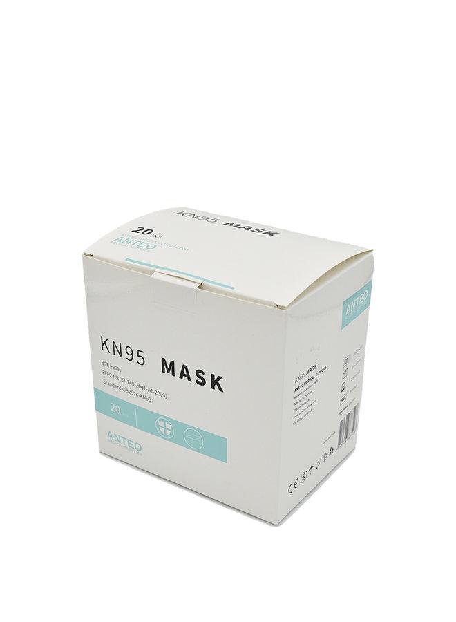 KN95 / FFP2 Ademhalingsbeschermingsmasker -  model 1, doos met 20 maskers