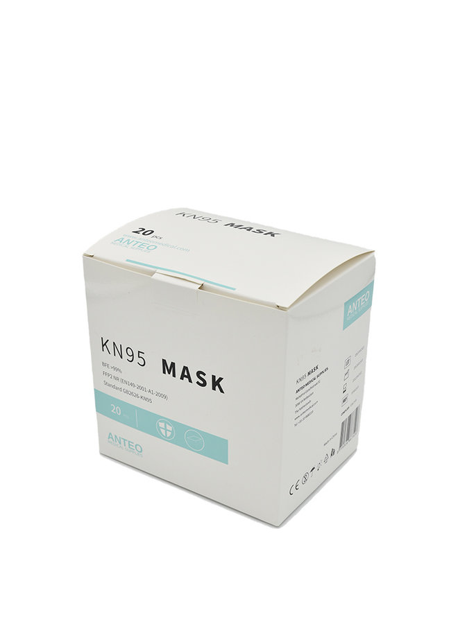 KN95 / FFP2 Mouth mask - Model 1, individually packed mask