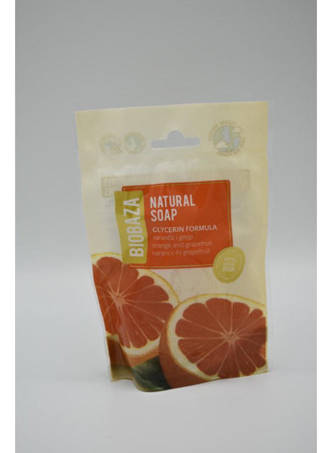 BIOBAZA NATURAL SOAP ORANGE & GRAPEFRUIT, 90 g