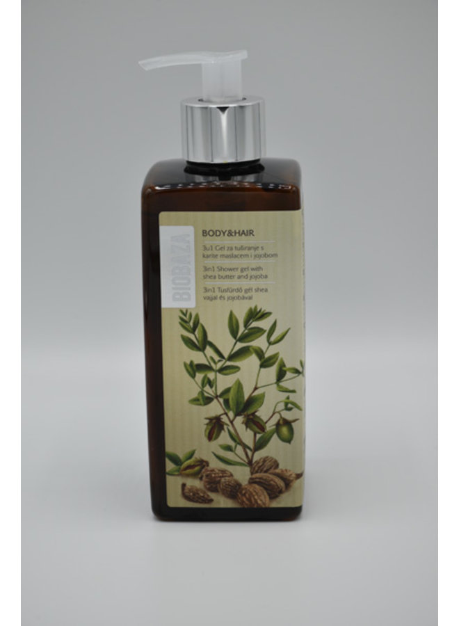 BIOBAZA BODY&HAIR 3 in 1, Jojoba and Shea butter, 400 ml