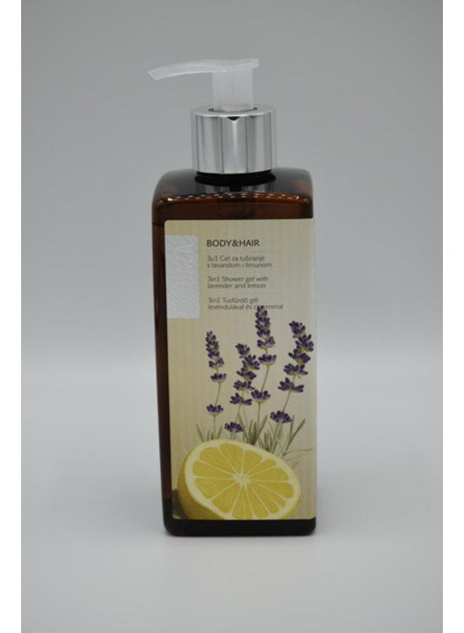 BIOBAZA BODY&HAIR 3 in 1, Lemon and Lavandel, 400 ml