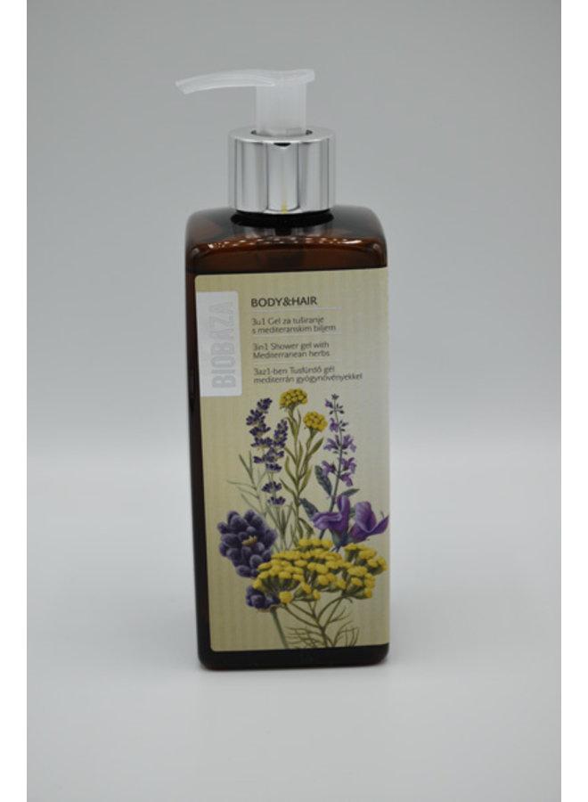 BIOBAZA BODY&HAIR 3 in 1, Mediterranean herbs, 400 ml