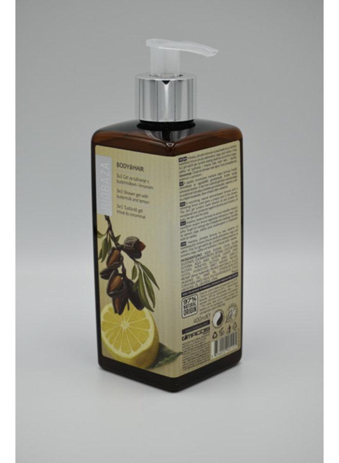 BIOBAZA BODY&HAIR 3 in 1, Mediterranean plants, 400 ml