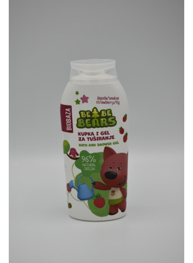 BIOBAZA BeBe BEARS SHOWER STRAWBERRY & FIG 250 ml