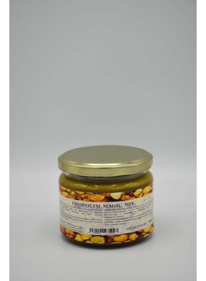 Honing, pollen en propolis artisanaal preparaat - 350 gram