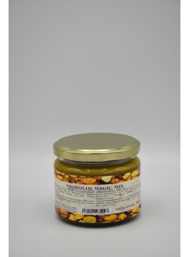 Miel, polen y propóleos preparación artesanal - 350 gramos