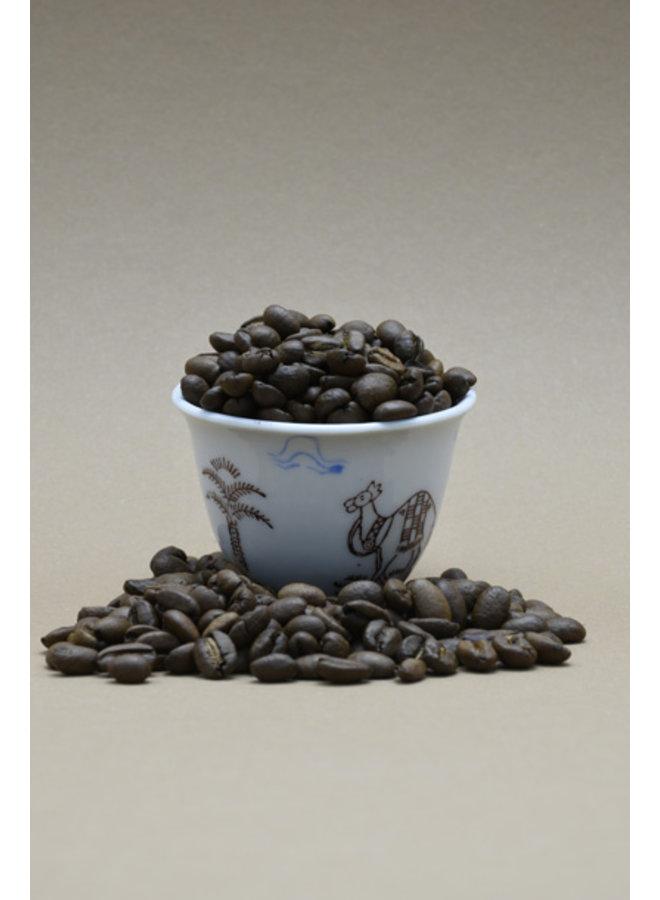 HARAR LONGBERRY koffie, 250 gram, bonen, gebrand