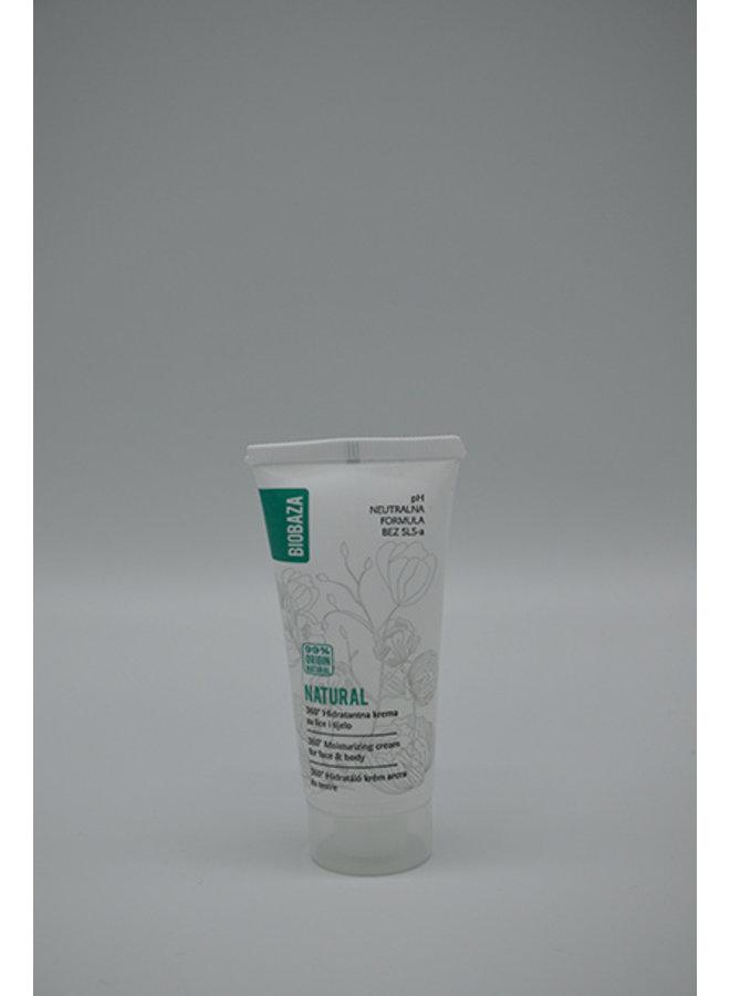 BIOBAZA NATURAL PH NEUTRAL hydraterende crème, reiseditie