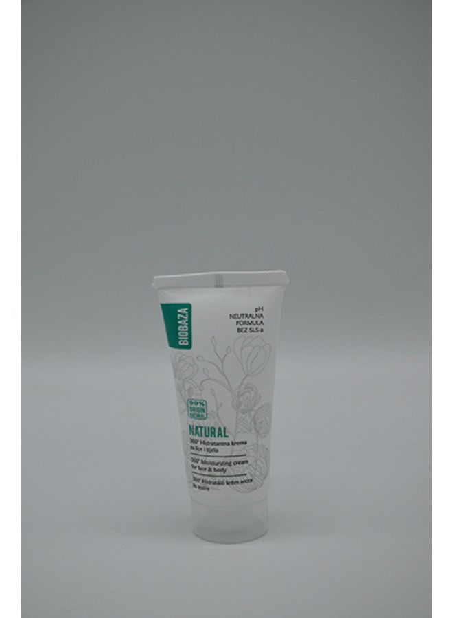 BIOBAZA NATURAL PH NEUTRAL hydrating cream, travel edition