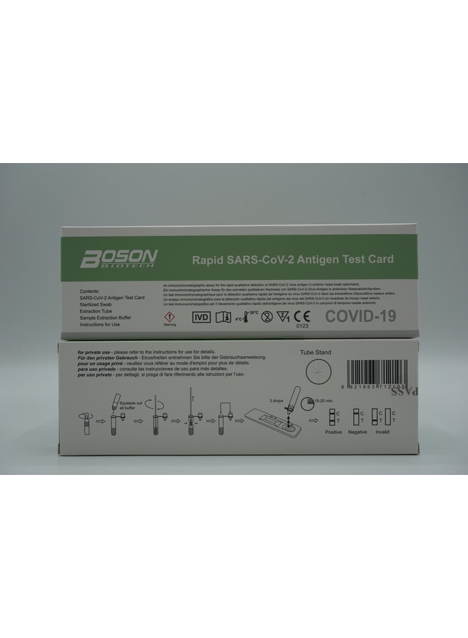 Rapid SARS CoV-2 Ag Self Test Boson Biotech