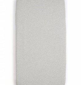 mundo melocoton fitted sheet grey melee 75x95