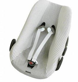 Mundo melocoton Mundo melocoton Car Seat Cover Interlock  La Línea Off-white