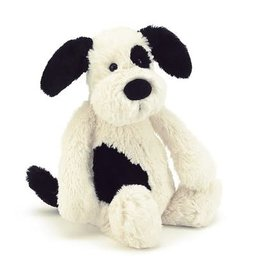 Jellycat JELLYCAT BASHFUL BLACK & CREAM PUPPY MEDIUM