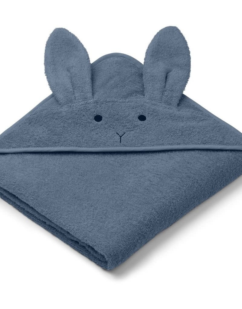 Liewood LIEWOOD AGUSTA HOODED TOWEL RABBIT BLUE WAVE