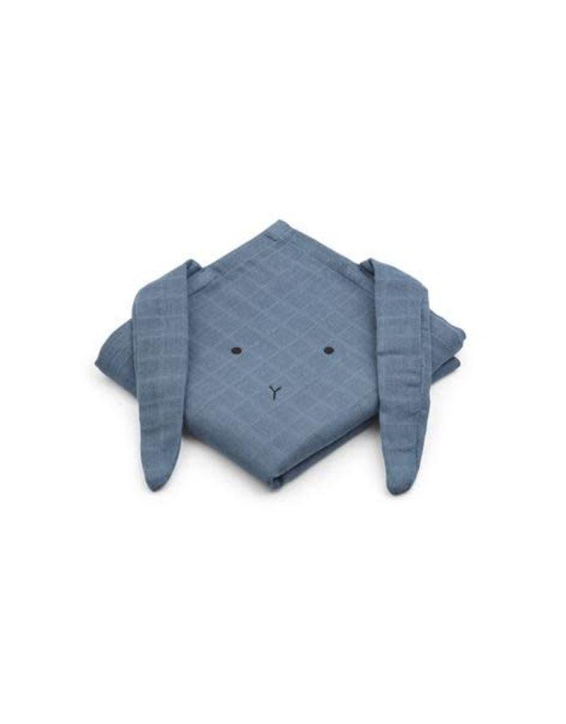Liewood LIEWOOD HANNAH MUSLIN CLOTH RABBIT BLUE WAVE