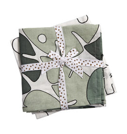 Done by deer DONE BY DEER BURP CLOTH 2-PACK TINY TROPIC