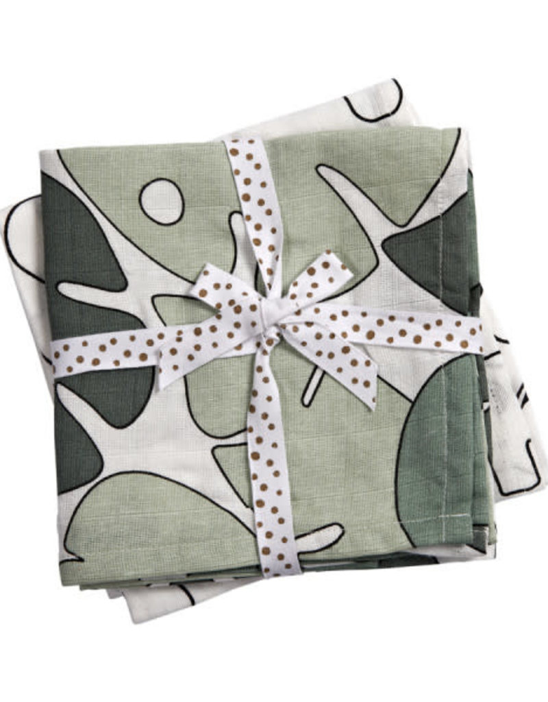 Done by deer DONE BY DEER SWADDLE 2 PACK TINY TROPICS