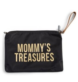 childhome CHILDHOME MOMMY CLUTCH BLACK GOLD