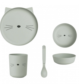 Liewood LIEWOOD BAMBOO SET CAT DUSTY MINT