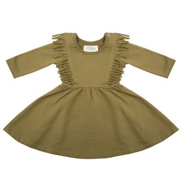 Little indians LITTLE INDIANS BOHO DRESS OLIVE
