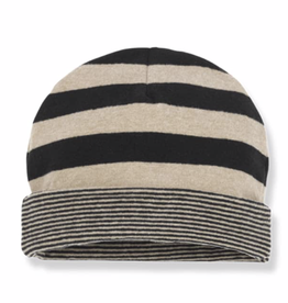 1+in the family 1+IN THE FAMILY LINZ BEANIE BLACK/BEIGE