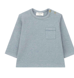1+in the family 1+IN THE FAMILY BILBAO LONG SLEEVE T-SHIRT LIGHT BLUE