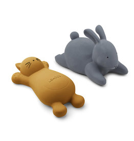 Liewood LIEWOOD VIKKY BATH TOYS 2 PACK CAT MUSTARD